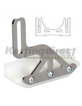 Frame Slider Protector. Bolts to the bearing hanger to protect sprocket side or brake disc