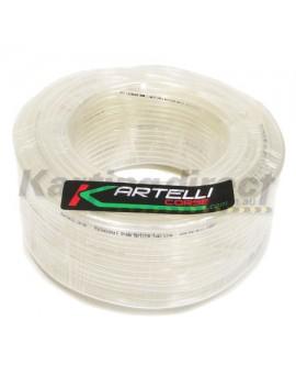 Fuel Line  Kartelli Corse Professional Grade  100 m roll  Clear