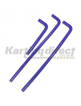 Hose Set  Blue Silicon  suit most watercooled engines