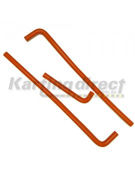 Hose Set  Red Silicon  suit most watercooled engines