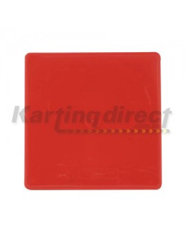 Number Plate Rear RED