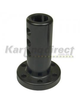 Steering Boss Straight Flat Extended - Black 20mm Shaft