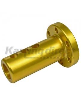 Steering Boss Straight Flat Extended - Gold 20mm Shaft