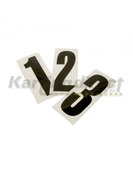 Number 2 decal  Small black sticker  Suit side pods