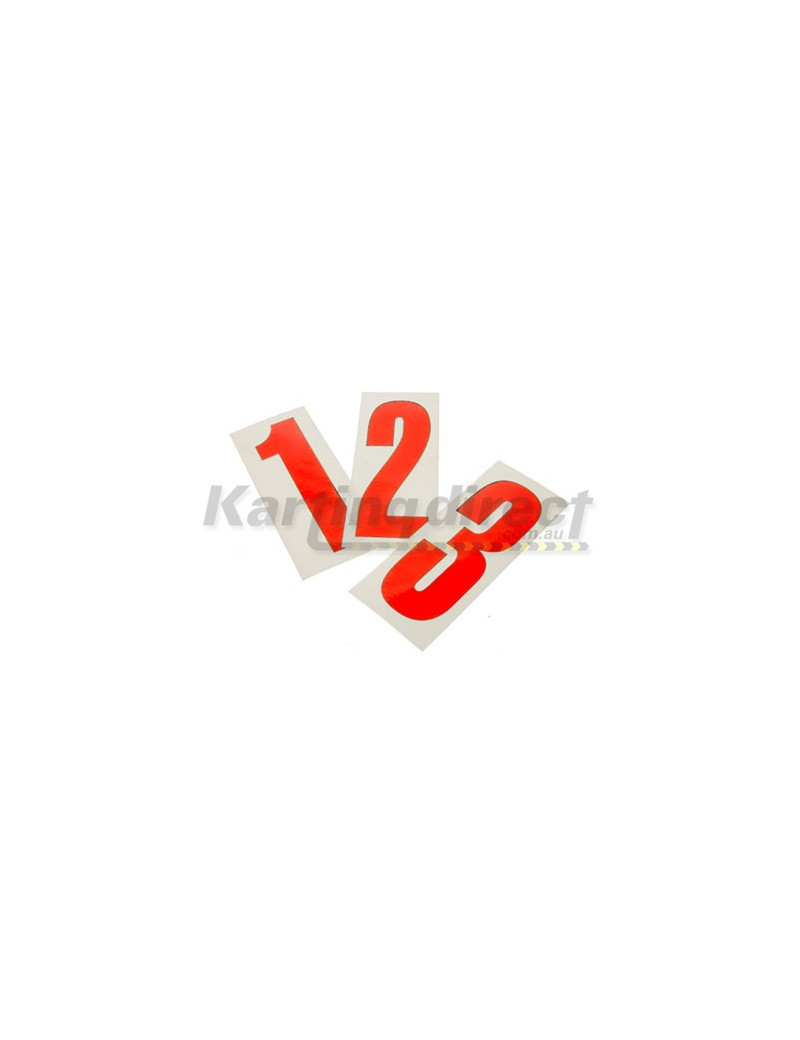 Number 3 decal  Small red sticker  Suit side pods
