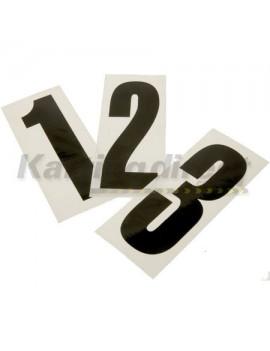 Number 4 decal   Large black sticker