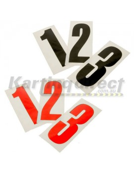 Number 9 decal  Small black sticker  Suit side pods