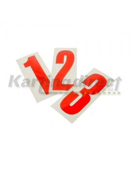 Number 9 decal  Small red sticker  Suit side pods