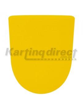 Yellow Front Nassa Panel Number Plate Sticker