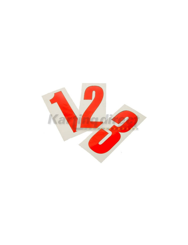 Number 7 decal   Large red sticker