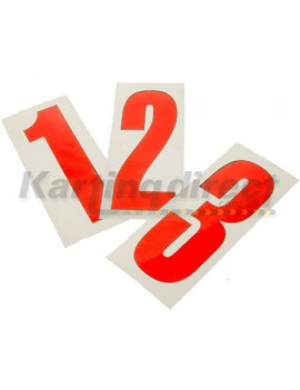Number 8 decal   Large red sticker