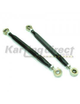 Tie Rod Adjustable Kit with rod ends Black twin