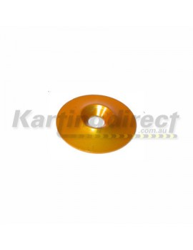 Seat Washer  M8 Counter Sunk Alloy  Gold Anodised