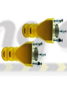 Front Mini Hub  Gold 95 x 25mm Stub Axles Set