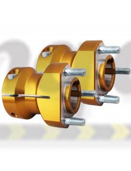 Hubs Rear 30mm x 90mm Set Gold