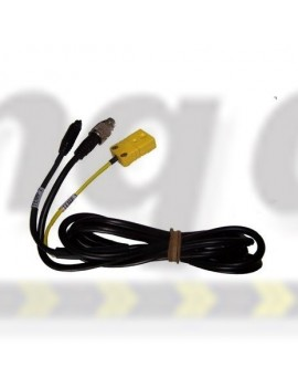 Aim Mychron Extension Cable MyChron 2T ext cable 1TC 1TR 1 sq yellow k type end and 1 round black end