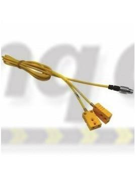 Aim Mychron Extension Cable MyChron 2T ext cable 2TC - 2 sq yellow k type ends