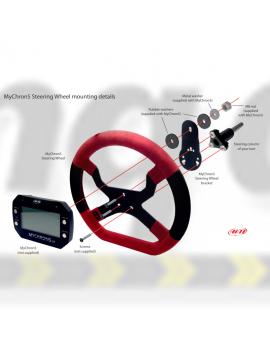 Aim MyChron5 Accessories MyChron5 Steering Wheel 3 hole - Red