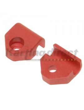 8mm Locking for Plastic brake line red