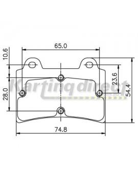 Brake Pads Suit ARROW MONACO OMEGA DENT Compatible Brakes 15mm Thick