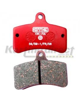 OTK BS2  Brake Pad - RED Compound - Genuine
