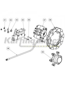 Complete Brake System suit 40mm axle