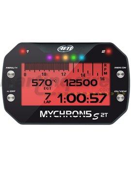 Aim MyChron5 2T GpS, 1 temp sensor,split ext cable, rechargeable battery, charger
