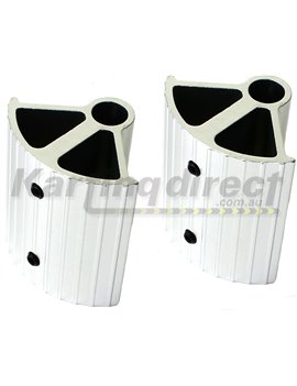 European Alloy Pedal Extensions. Suit bar type pedals.Silver